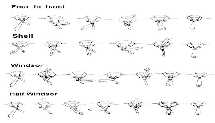how to tie 4 ties