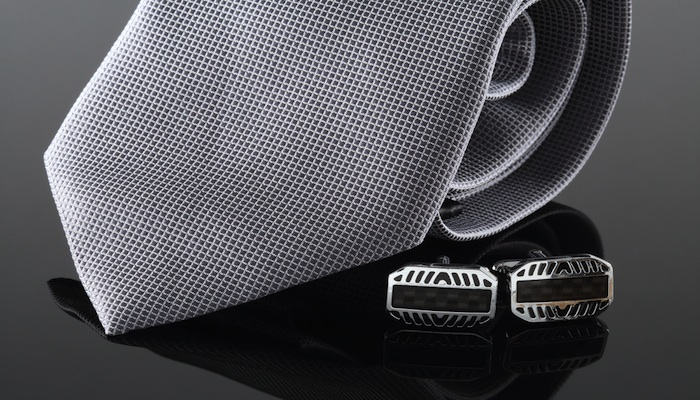 polyester ties and cufflinks