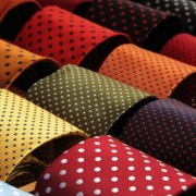 Custom ties of many colours