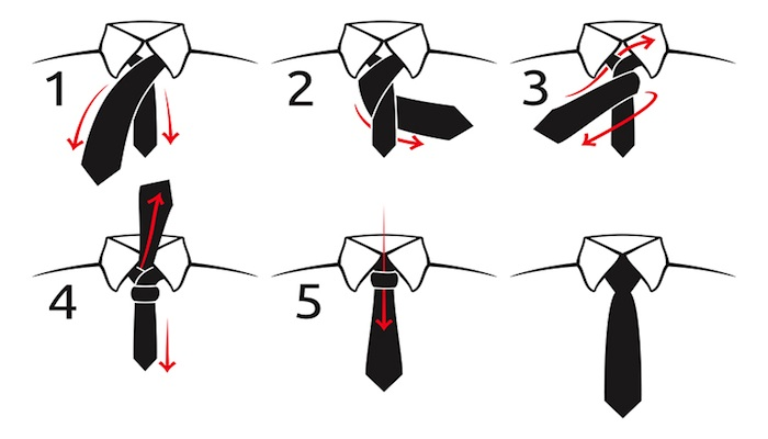 Simple knot and the four in hand knot james morton ties simple tie knots ccuart Gallery