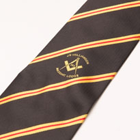 Bespoke ties can be used for clubs and masonic chapters