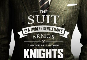 Suits are the gentleman's armour, including his tie