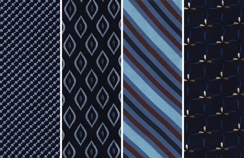 Silk ties are top quality and should be worn sparingly for special occassions