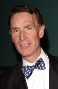 Bill Nye wearing a bow tie at a film premiere