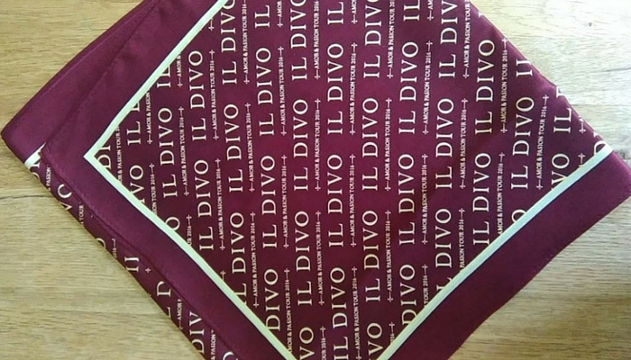 il Divo scarf designed by James Morton