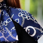 Different ways to wear ladies silk scarves