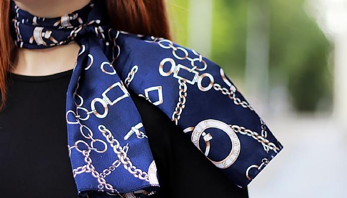 Different ways to wear ladies silk scarves