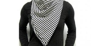 woman wearing a bandit style scarf