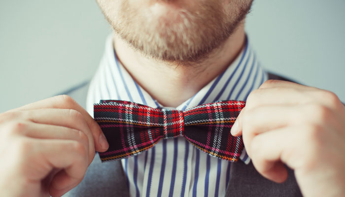 Modern bow ties for men.
